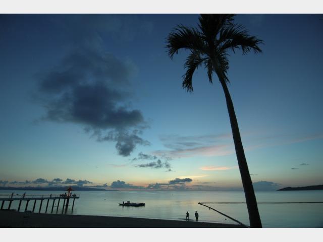 景色イメージ フサキビーチからのサンセット.