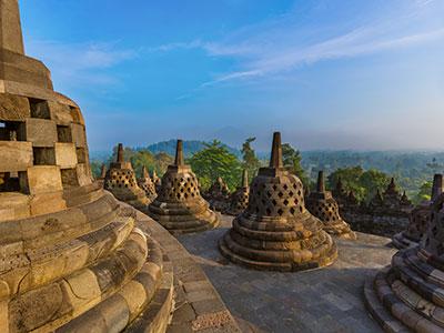 【関空発】ガルーダインドネシア航空で行く専用車で巡る朝焼けの世界遺産ボロブドゥール遺跡とバリ島【絶景】