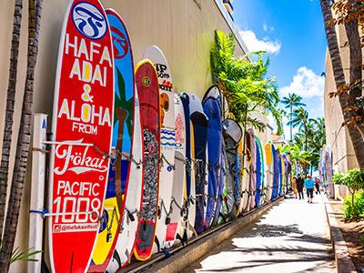 【羽田発】ハワイアン航空往復直行便利用ホノルル6日【観光付き】