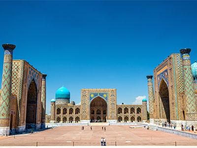 【成田発】大韓航空利用シルクロードの美しき青の世界ウズベキスタン周遊【絶景】