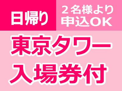 日帰り東京【東京タワーメインデッキ入場券付】2名様より申込OK