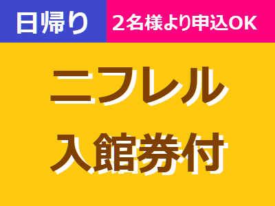 日帰り大阪【ニフレル入館券付】2名様よりお申込みOK