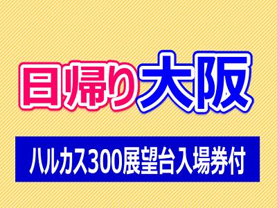 日帰り大阪【あべのハルカス ハルカス300展望台入場券付】2名様よりお申込みOK