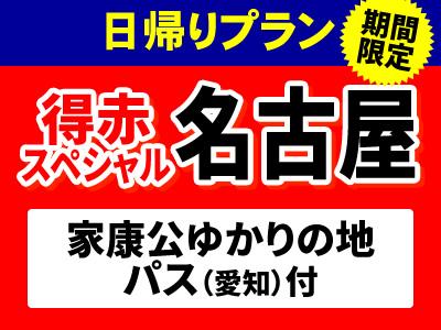 新幹線ひかり・こだま号で行く!ひさびさ旅★名古屋日帰りプラン!家康公ゆかりの地パス付