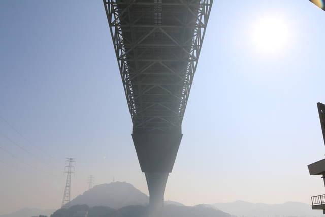 関門橋の真下