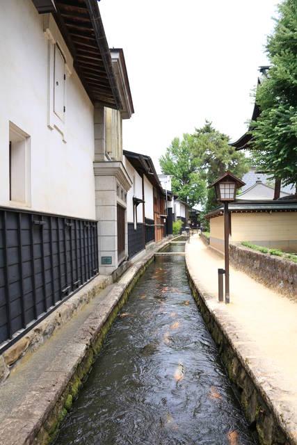 飛騨古川の白壁土蔵街