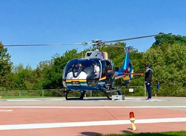 ヘリコプターでナイアガラ空中散歩