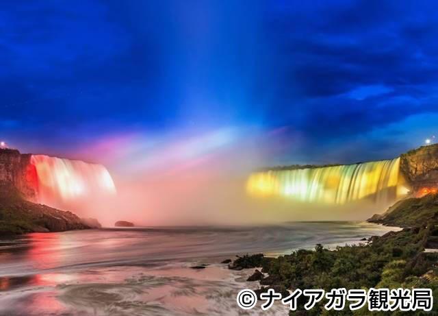滝のイルミネーション