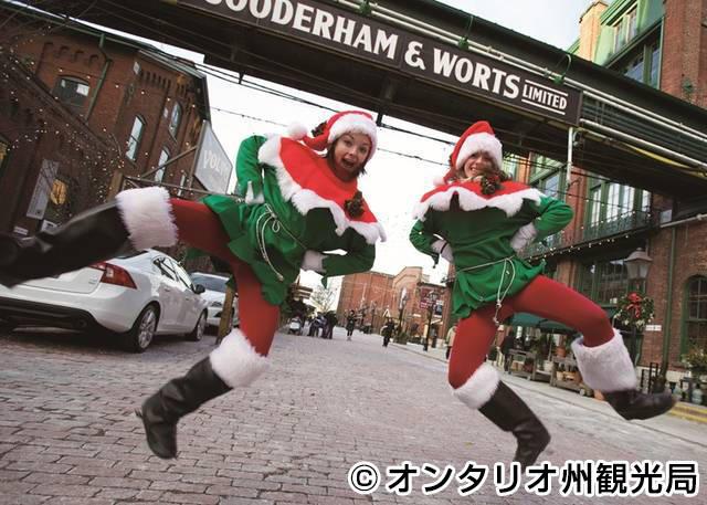 クリスマスシーズンのディスティラリー地区