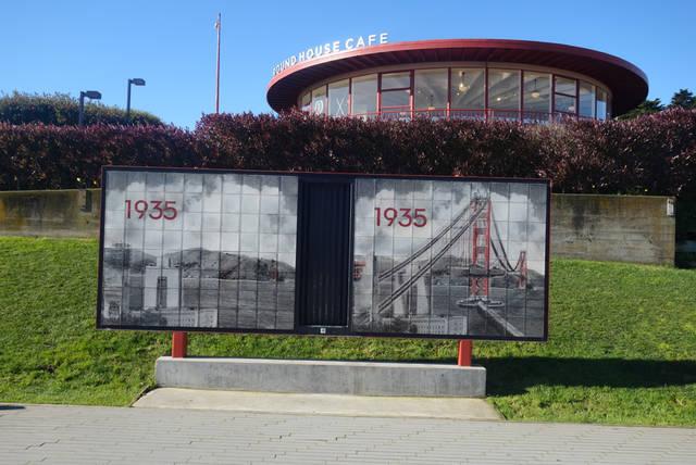 ゴールデンゲートブリッジのサンフランシスコ側の入り口に到着!