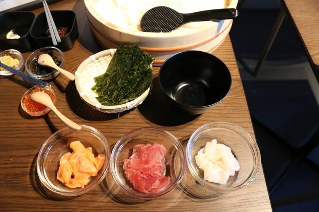 通常手まり寿司体験具材