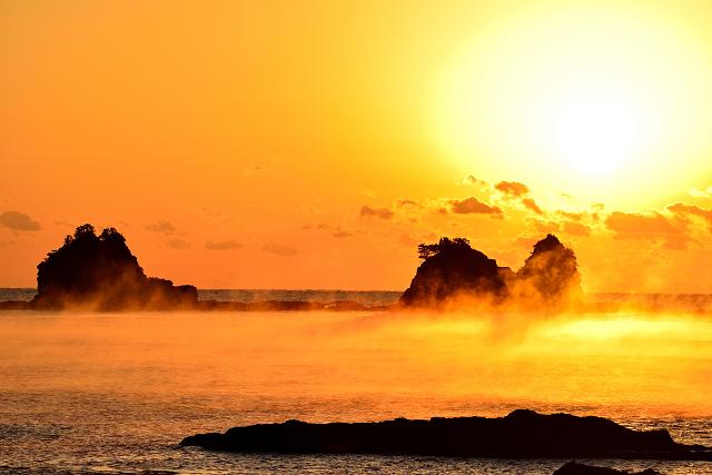 田原海岸の海霧