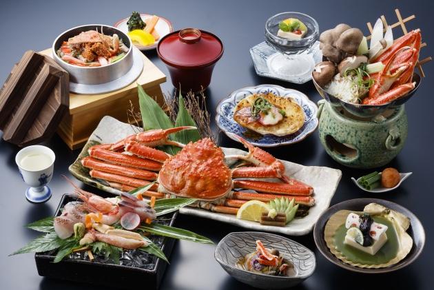 夕食一例(デラックス蟹会席「かに匠(たくみ)」)