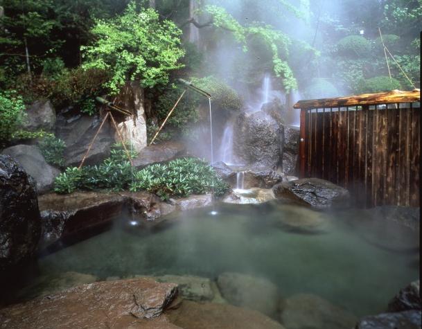 野趣豊かな大浴場に併設された露天風呂