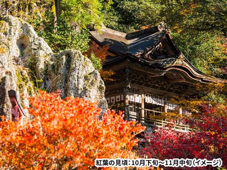 白山白川郷ホワイトロードの絶景紅葉ドライブ!奇岩に映える「那谷寺」の紅葉とふたつの世界遺産集落へ誘う 北陸紅葉めぐり 2日間