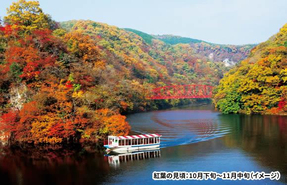 <おとなびメルマガ掲載コース>秋色に染まる渓谷美 紅葉の帝釈峡・八重滝と島根の2大名園 2日間