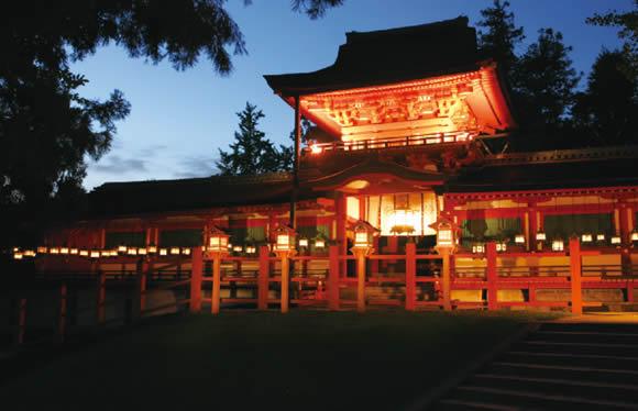 京都・奈良の見どころめぐり 春日大社夜間貸切特別参拝・献灯体験と金閣寺・薬師寺 2日間